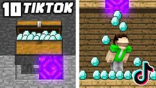 10 Minecraft TikTok Ways to STEAL DIAMONDS in Minecraft!