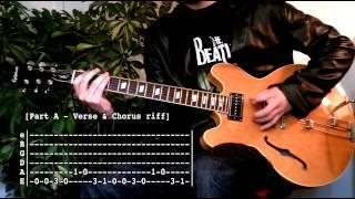 Juicebox - The Strokes (Guitar tab tutorial & Cover )
