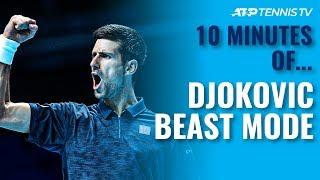 10 MINUTES OF: Novak Djokovic 'Beast Mode' Tennis