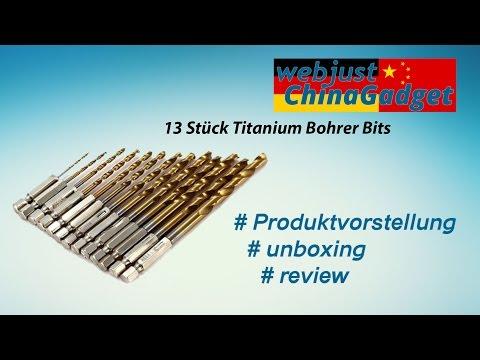 13 Stück Titanium Bohrer Bits [ unboxing - review - german/deutsch ]