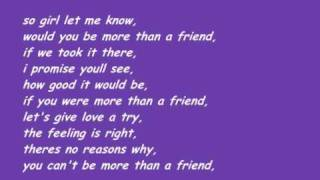 Stevie Hoang - More Than A Friend /w lyrics