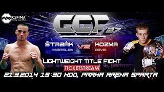 David Kozma vs. Miroslav Štrbák - GCF 27. lightweight title fight