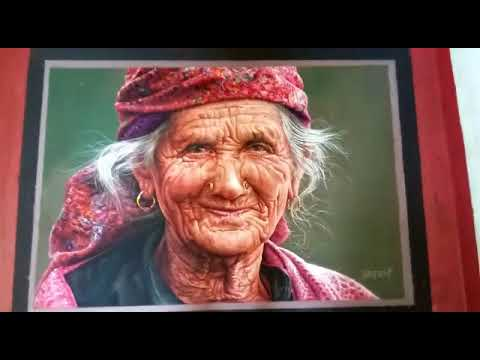 hyper realistic portrait rangoli design by pramod arvi