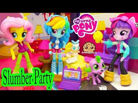 My Little Pony Equestria Girls Minis Dolls MLP Slumber Party - Cookieswirlc Toy Video