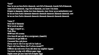 French Montana - Diamonds ft. J. Cole & Rick Ross (lyrics on screen)