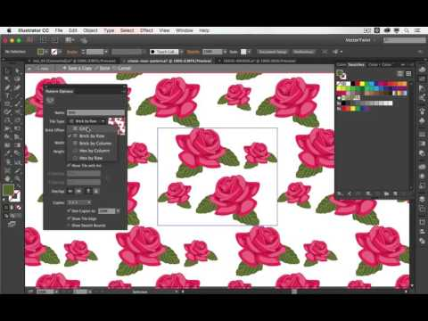 How to make floral patterns easily  with free vectors
