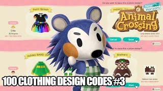 Animal Crossing New Horizons - 100 ACNH Clothing Design Pattern Codes #3 [Nintendo Switch]