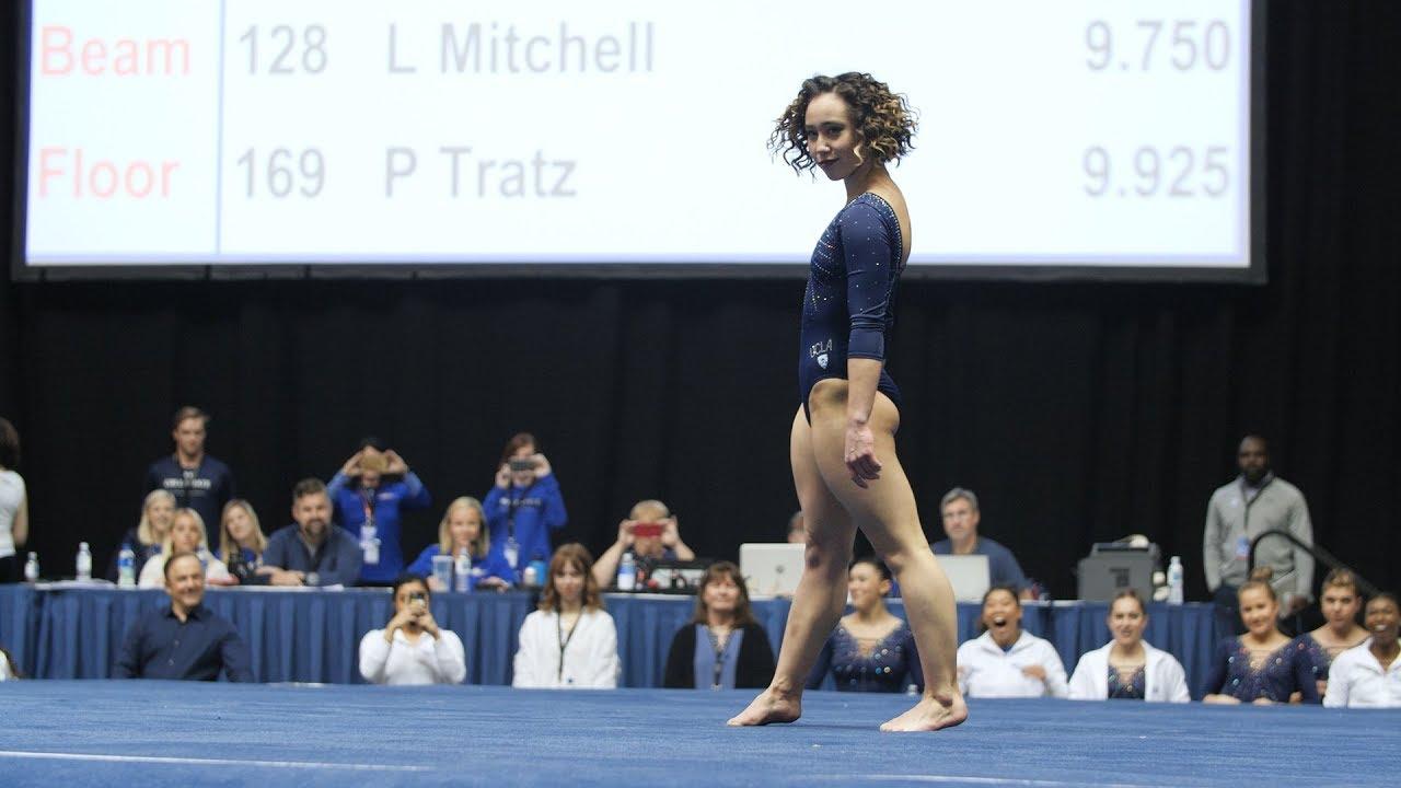 Яркое выступление с элементами танца и приземление на шпагат гимнастки Кейтлин Охаши