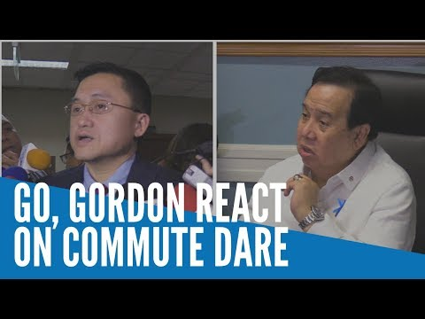 Gordon on commute dare: 'I don't want be laughing stock like Panelo'
