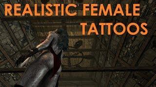 Skyrim Special Edition Mod Review Realistic Female Tattoos