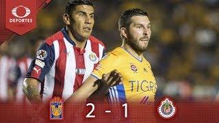 Resumen Tigres 2 - 1 Chivas   Clausura 2019 - J17   Presentado Por Corona