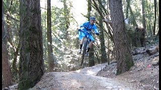 Great riding on berms and doubles!