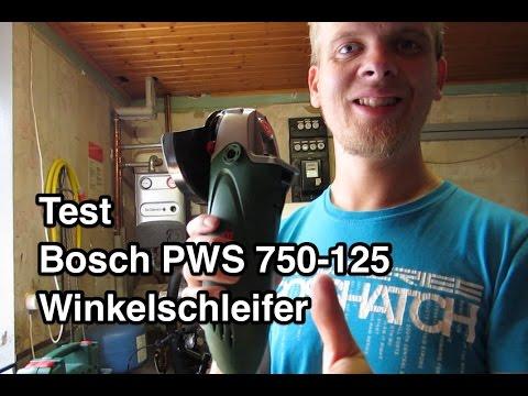 Test Bosch Pws 750-125 Winkelschleifer INDOOR   Winkelschleifer Test   Bosch Winkelschleifer