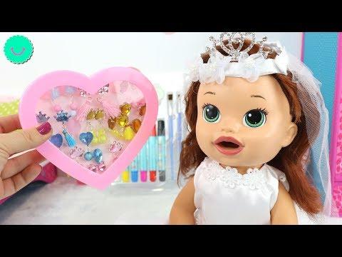 Sara se viste de Boda - Muñecas Baby Alive juegos de disfraces para niñas