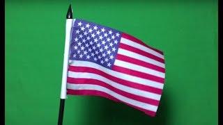 American Flag Waving Green Screen Chroma Key Stock Footage Royalty Free Video Editing