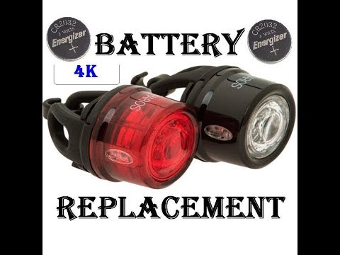 [4K] How To Replace Batteries On Bicycle Clip On LED Light. (Bell / Cateye)