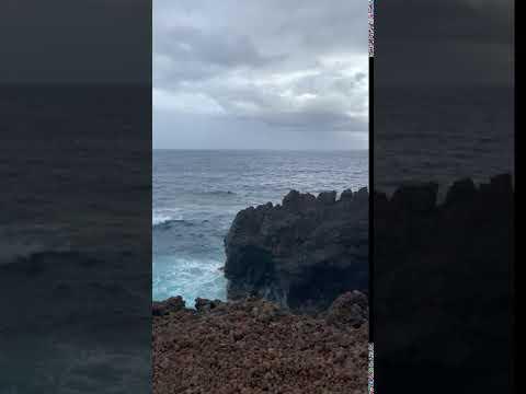 lava rocks along a hiking trail