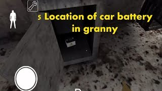 5 easy way to find car battery in granny|| car battery all location in granny game