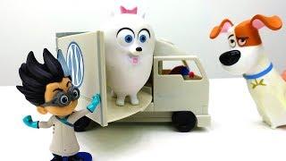 Видео для детей. Новое видео с игрушками из мультфильмов! Ромео из ГЕРОИ В МАСКАХ похитил Гиджет!