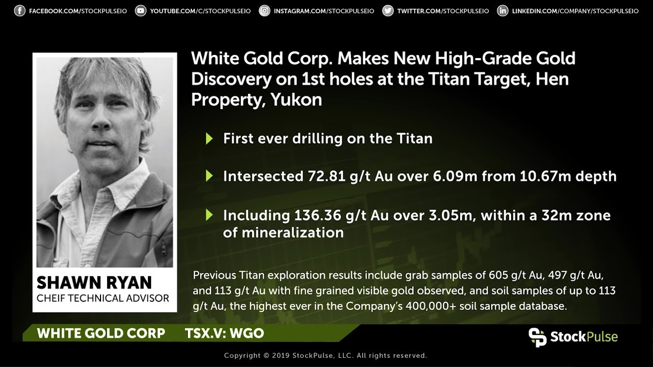 White Gold Corp Makes New High-Grade Gold Discovery at the Titan Target