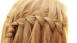 Смотреть онлайн Схема плетения косички «Французский водопад»