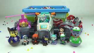 Коробка сюрпризов с игрушками щенячий патруль
