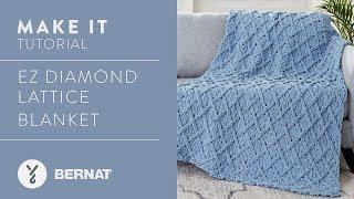 EZ Knitting: EZ Diamond Lattice  Blanket