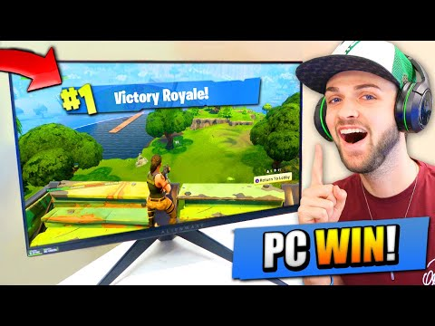 Ali-A 1st VICTORY ROYALE on Fortnite: Battle Royale PC!