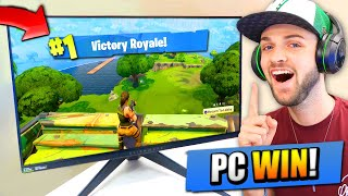 Ali-A 1st VICTORY ROYALE on Fortnite: Battle Royale PC!