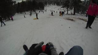 preview picture of video 'Sledging at Troodos 6 Feb 2010'