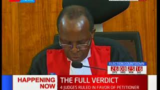 Supreme Court Judge, Prof. Jackton Ojwang' outlines his dissenting verdict [Part 4]