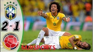 Brazil vs Colombia 2-1 - HIGHLIGHTS & GOALS RESUMEN & GOLES - WORLD CUP 2014 HD