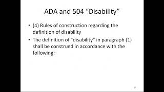 Section 504 Plan:  A Powerful Tool for Students with Disabilities (11/16/17)