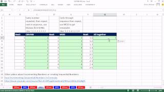 Excel Magic Trick 991: Formula To Create Sequential Numbers 1.1, 1.2, 1.3, 2.1, 2.2, 2.3, ...