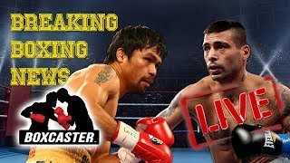 Manny Pacquiao vs. Lucas Matthysse is ON! - BOXING NEWS LIVE