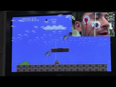 Play Super Mario Using Only Your Eyes!