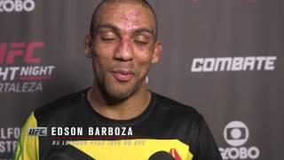 UFC Fortaleza: Entrevista de backstage com Edson Barboza