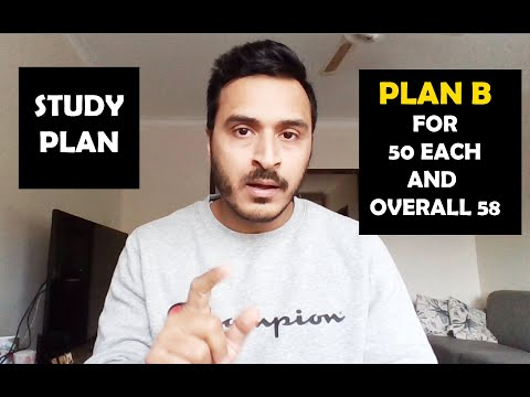 PLAN B FOR 50 EACH AND OVERALL 58 IN PTE II STUDY PLAN II PTE BY NIKHIL