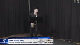 Chen SIFAN plays The four elements by V. Herbiet #adolphesax