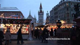 preview picture of video 'Weihnachtsmarkt, München - Germany HD Travel Channel'
