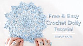 Easy Crochet Doily Tutorial For Beginners, Quick Doily Pattern, Flower Doily Crochet Pattern