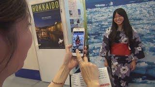 台北で日本観光展愛知県知事が鏡開き