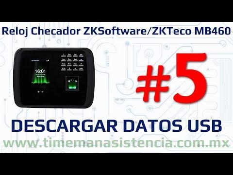 Reloj Checador MB460 [Parte 5] - Descarga de Datos por USB | ZKTeco | Huella Digital | Facial
