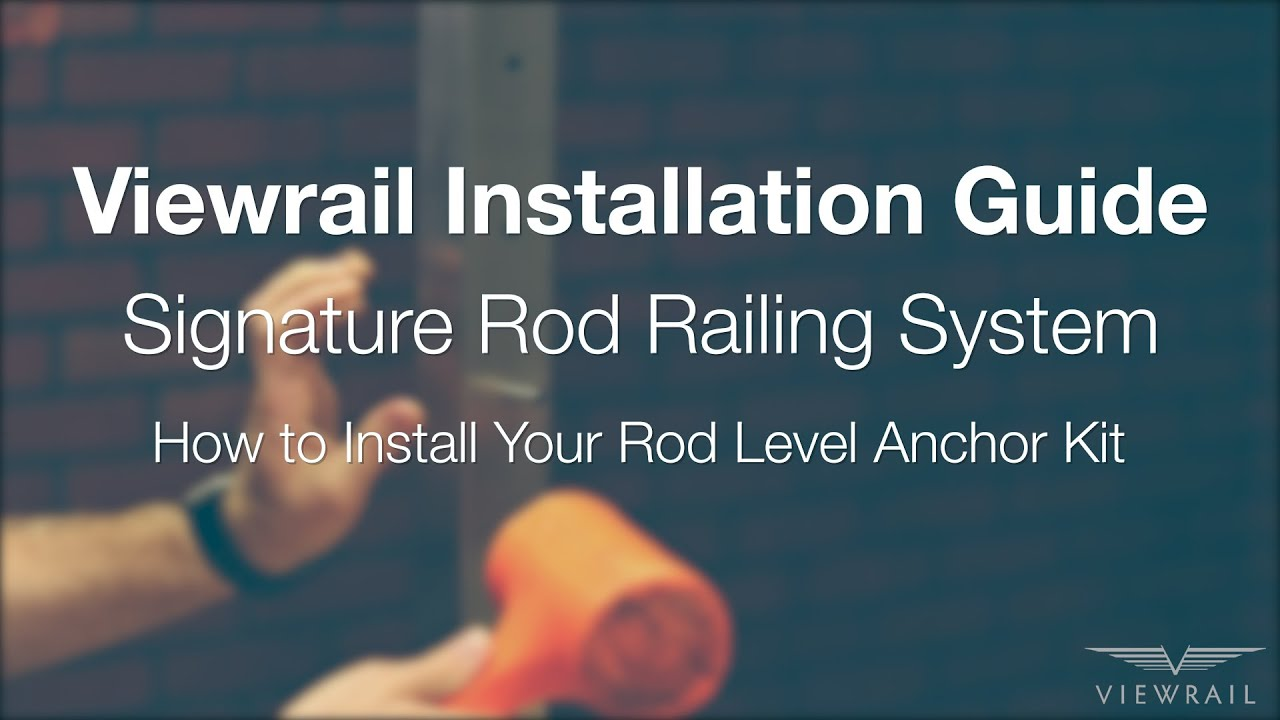 How to Install Level Rod Anchor