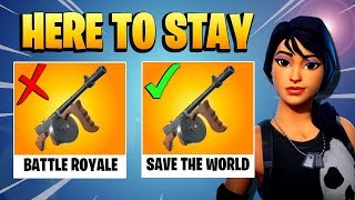 TYPEWRITER STAYING OUT OF THE VAULT!!! Drum Gun Removed! | Fortnite Save The World