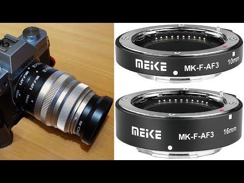 Tuburi de extensie macro Meike MK-F-AF3 cu Auto focus pentru FujiFilm X