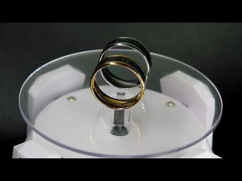 anillo en acero inoxidable termometro temperatura dorado