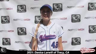 2021 Danica Larwill Shortstop and Outfield Softball Skills Video - AASA