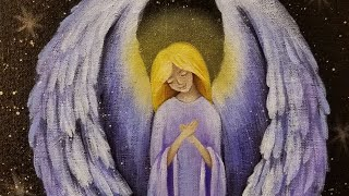 Christmas Angel Acrylic Painting LIVE Tutorial