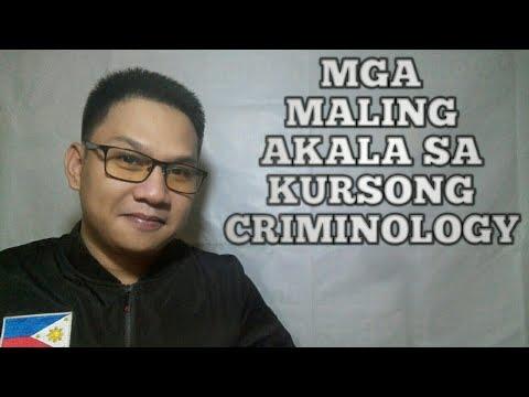 MGA MALING AKALA SA KURSONG CRIMINOLOGY Criminology Vlog # 19